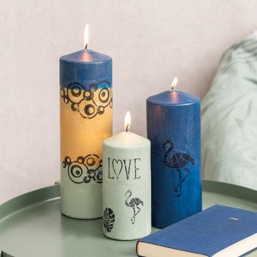 Kaarsen Beschilderen Met Acrylverf.Kaarsen Met Zijdeglans